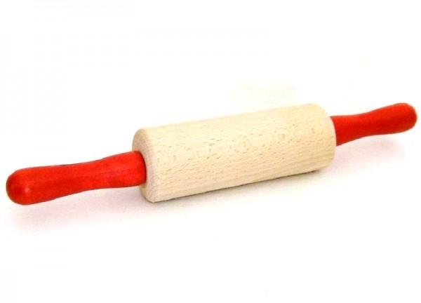 Kinder Teigroller, Nudelholz aus Holz mit roten Griffen