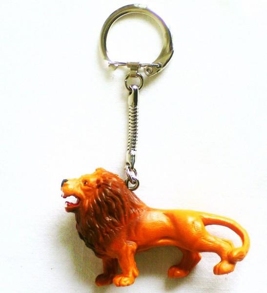 Schlüsselanhänger mit Löwe aus Plastik