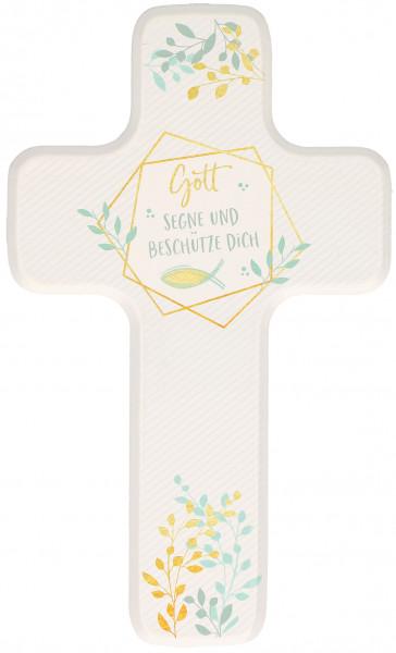 Kinderholzkreuz - Kreuz Gott segne u. beschütze dich