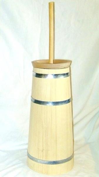 3-teiliges Deko Butterfass aus Fichtenholz, natur
