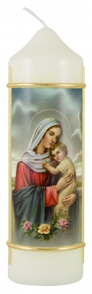 Marienkerze Madonna mit Kind, Kerze Eierschale
