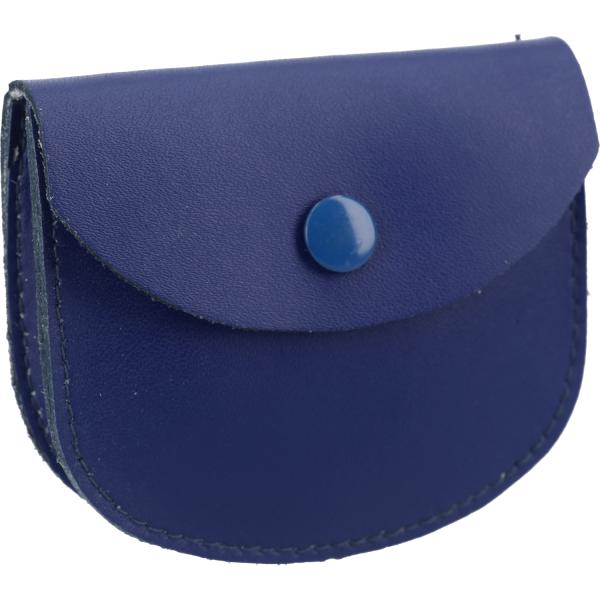 Rosenkranztäschen-Leder - Rosenkranz-Etui 8x7cm blau