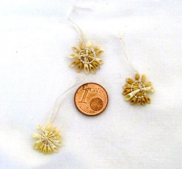Mini Strohstern 1,5cm Stern weißer Faden, Baumschmuck