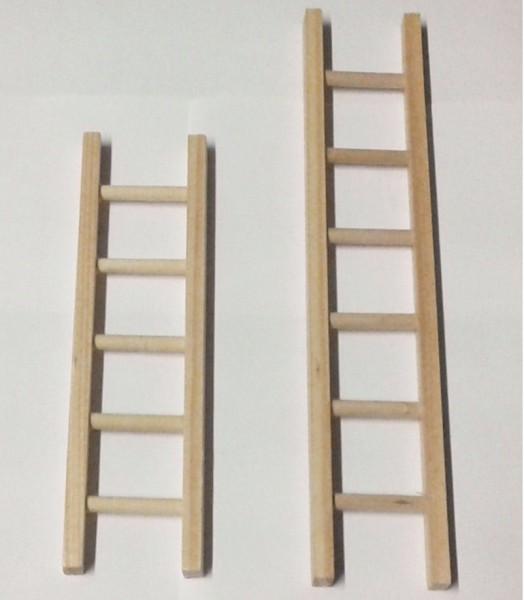 Miniatur Leiter aus Holz, Zubehör für Krippe oder Puppenhaus