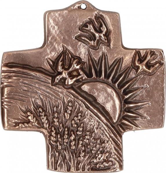 Kommunionkreuz Bronze - Schöpfung