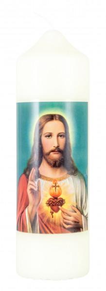 Motivkerze Herz Jesu, Eierschale 165/50mm