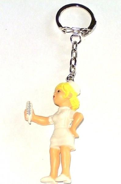 Schlüsselanhänger mit Figur Krankenschwester Plastik