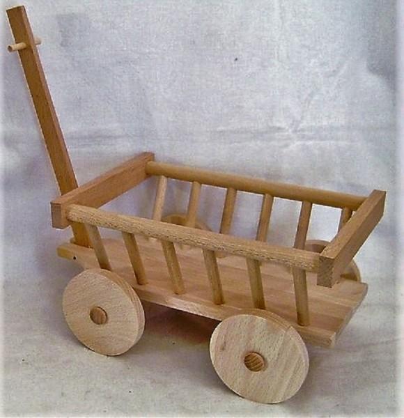 Leiterwagen aus Holz zum befüllen und dekorieren