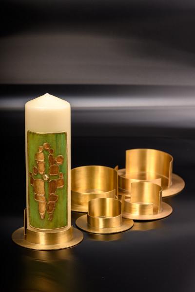 Kerzenhalter Messing in verschiedenen Größen