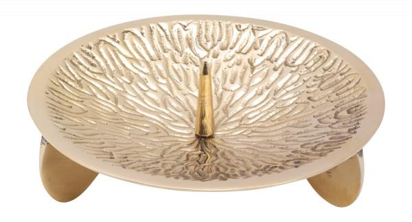Dreifußleuchter, Kerzenhalter aus Messing 13cm D