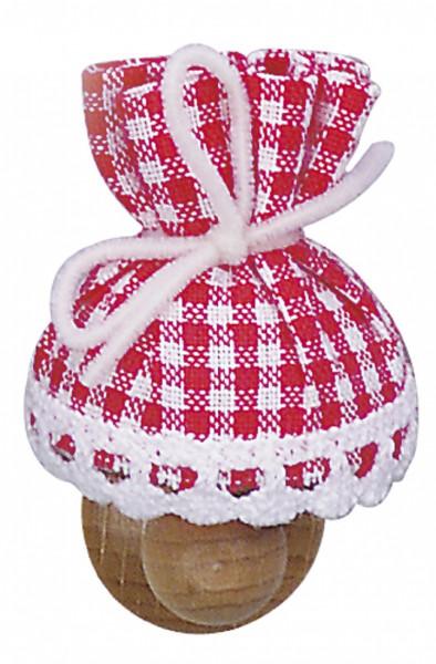 Puppenhaus Mini Wandlampe 3,5V mit Stoffschirm