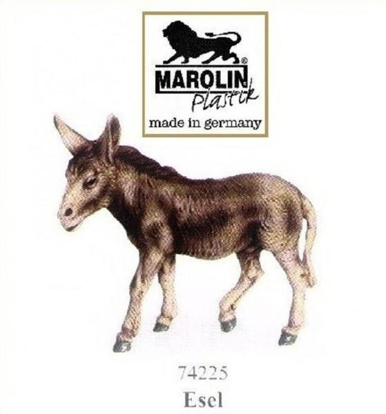 Esel, Krippenfigur zu 12cm Kunststoff, Marolin Plastik