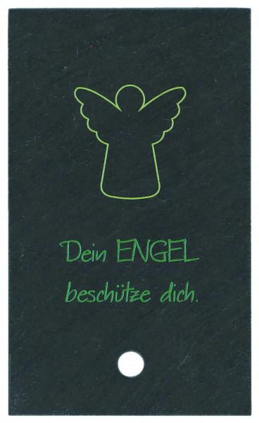 Schieferrelief zum aufstellen - Dein Engel beschütz