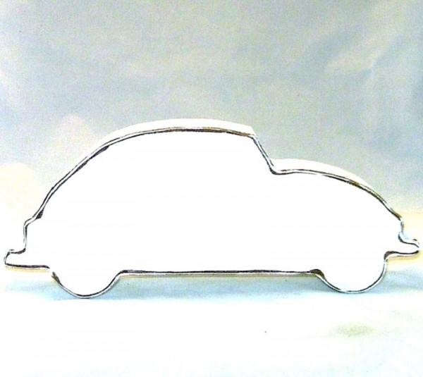 VW Käfer Deko Figur, MDF-Holz weiss im Shabby Chic Stil