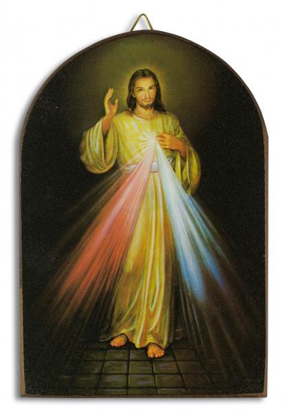 Bild Barmherziger Jesus oben abgerundet, klein 15 x 10cm