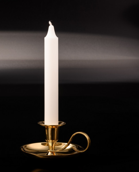 Handleuchter Klassik, Messing Kerzenhalter