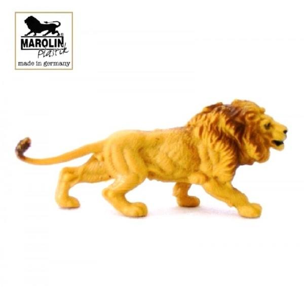 Tierfigur Löwe angreifend, Marolin Plastik Sammelfigur