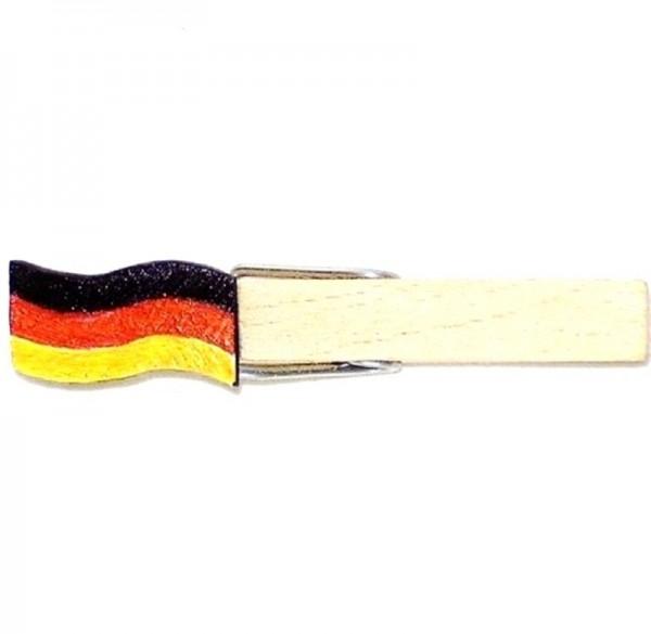 Holzklammer mit Flagge, Deutschlandfahne, Holzapplikation