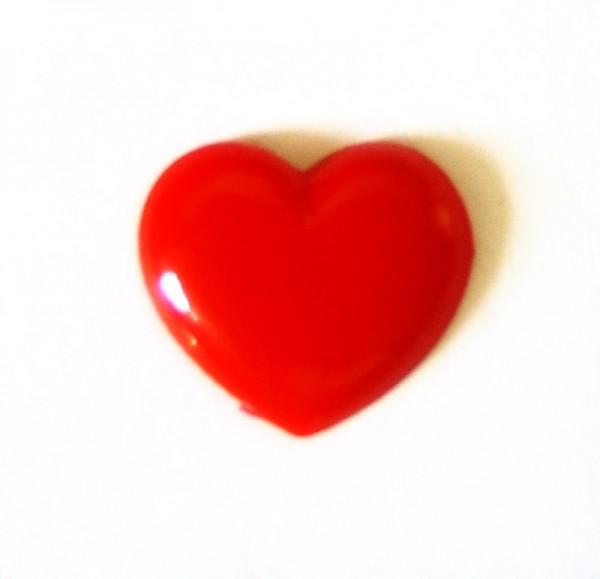 Herz halbplastisch, aus Kunststoff