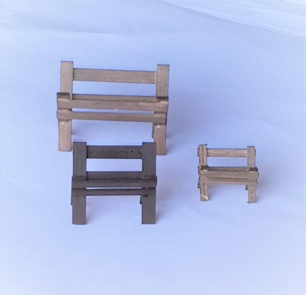 Miniatur Holz Futter-Krippe braun in 3 Größen