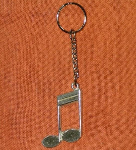 Schlüsselanhänger mit Sechzehntelnote aus Zinn