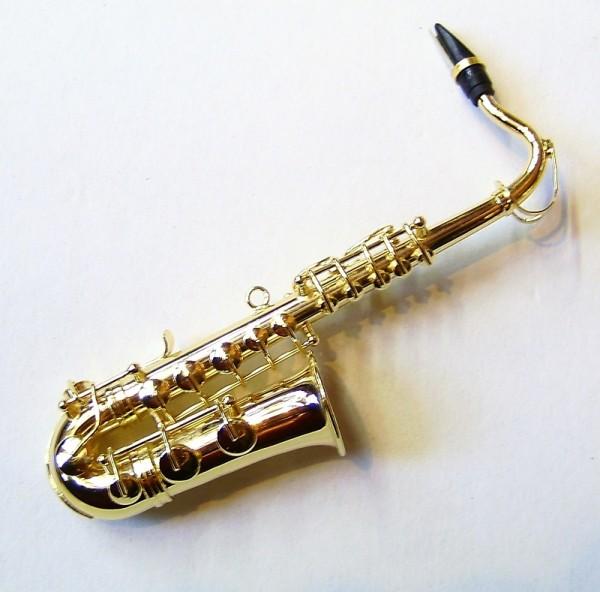 Deo Miniatur Saxophon aus Metall, 12cm