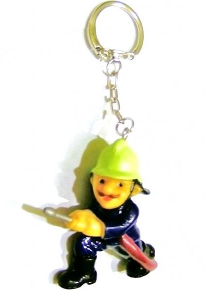 Schlüsselanhänger mit Sammelfigur Feuerwehrmann Plastik