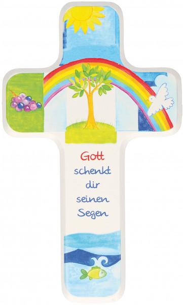 Kinderholzkreuz - Kreuz Gott schenkt dir den Segen