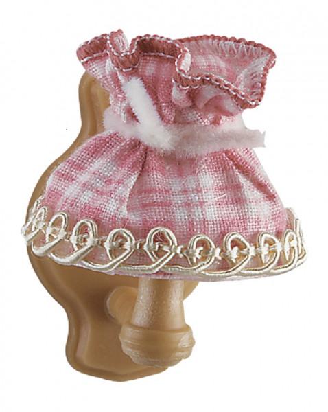 Puppenhaus Miniatur Wandlampe 3,5V, Stoffschirm