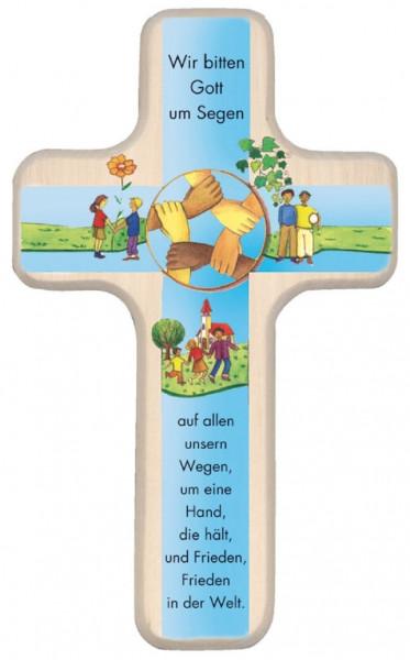 Kinderholzkreuz - Kreuz, Wir bitten Gott um Segen
