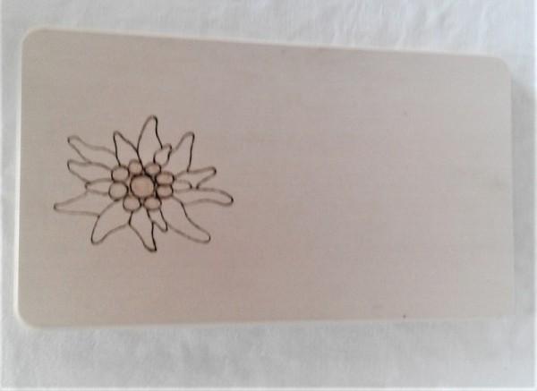 Frühstücksbrettchen kleines Schneidebrett 13x23cm Edelweiss