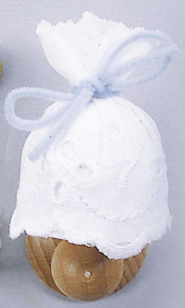 Puppenhaus Mini Wandlampe 3,5V Holzwandhalter mit Stoffschirm
