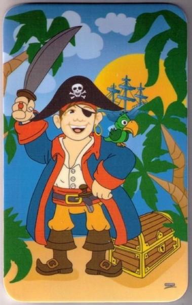 Kesper Frühstücksbrettchen, kleines Schneidebrett Motiv Pirat