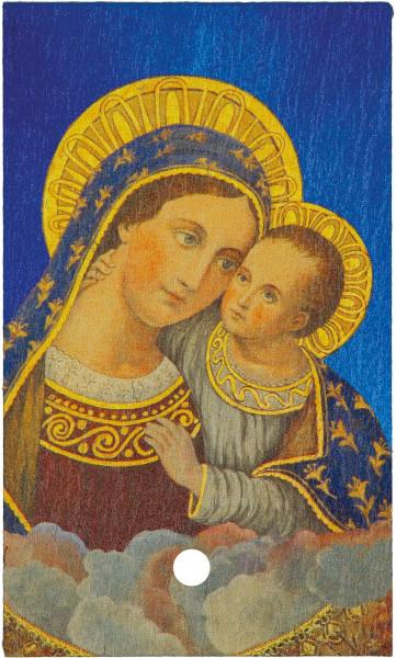 Schiefertafel mit Motiv - Maria mit Kind