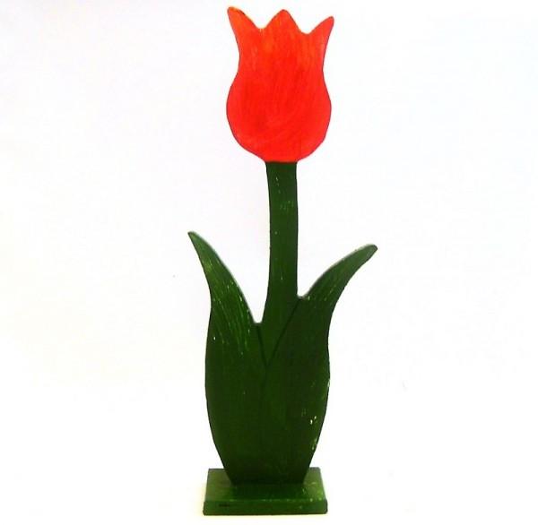 Deko Tulpe aus Holz im Landhausstil, Frühlingsdeko