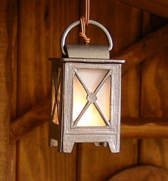 Stalllaterne, Laterne aus Zinn 5cm H Krippenlicht