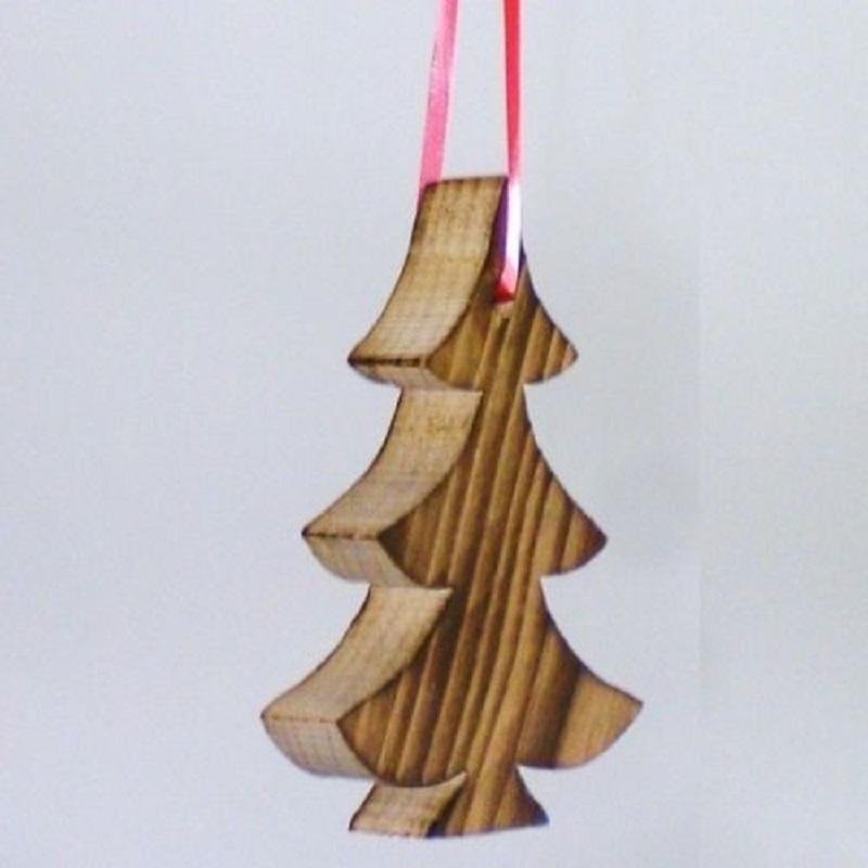 baumaufh nger tannenbaum christbaumschmuck aus holz. Black Bedroom Furniture Sets. Home Design Ideas