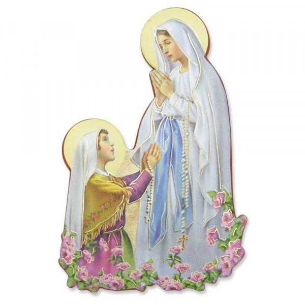 Magnet-Pin u.hängen Lourdes Madonna/Bernadette