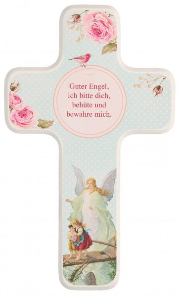 Kinderholzkreuz - Kreuz mit Motiv Schutzengel