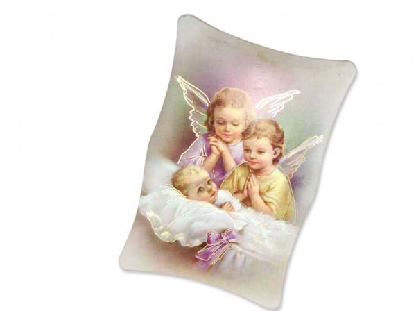Engel-Bild Baby mit Engeln zum aufhängen 11x7cm