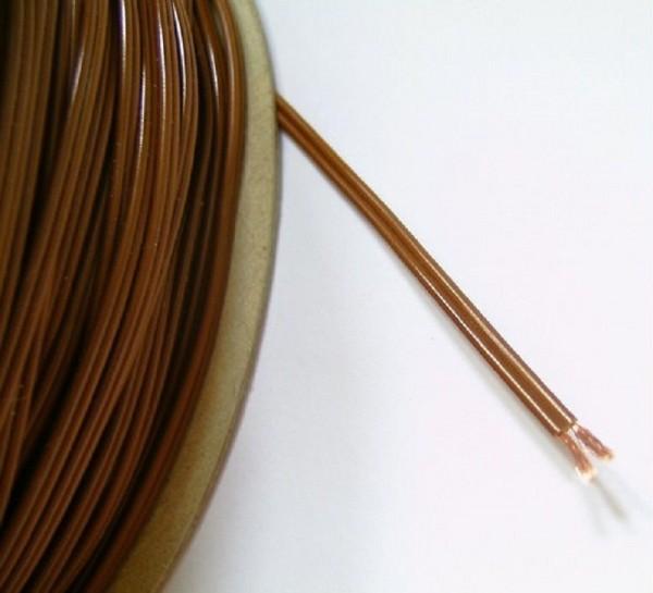 Kunststofflitze 2-adrig, 2x18x0,10, braun, Krippenbau