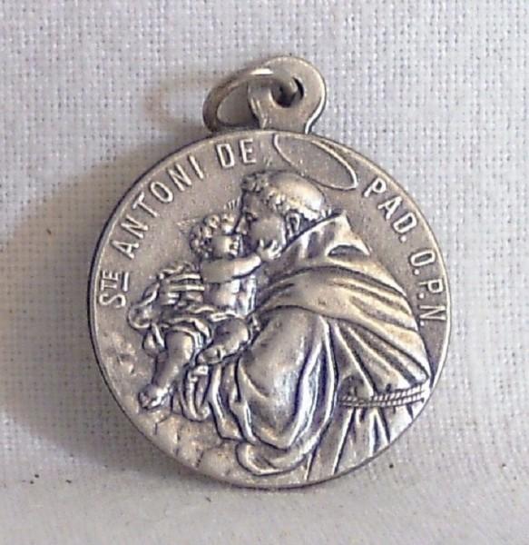 Antonius / Franziskus-Anhänger Neusilber, Devotionalien