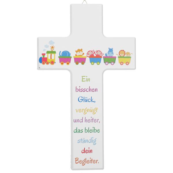 Kinderkreuz Holz, Motiv Ein bisschen Glück