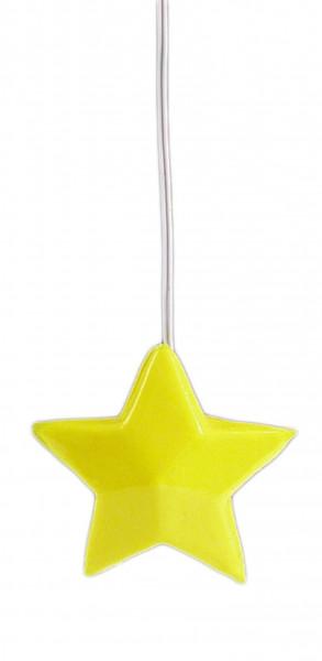 Puppenhaus Miniatur Hängelampe 3,5V, Stern-gelb