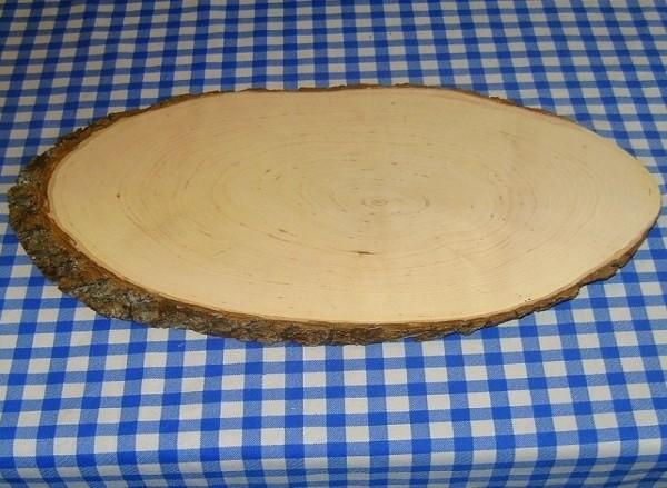Brotzeitbrett; Rindenbrett, Servierbrett 48x24cm oval