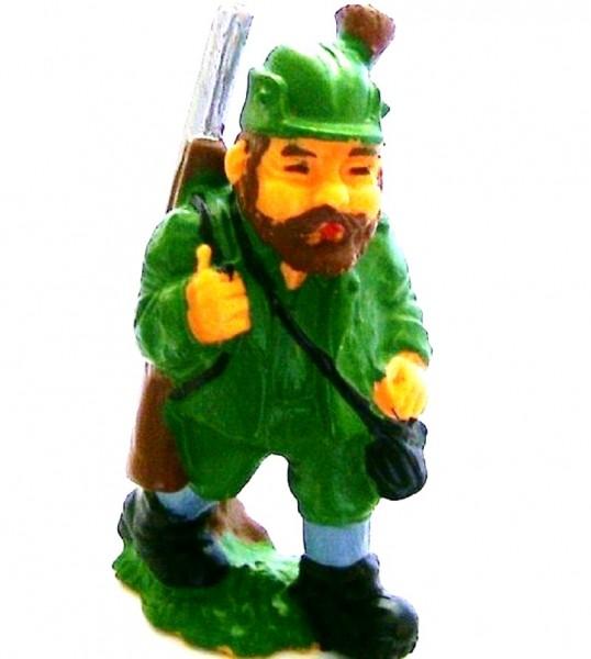 Dekofigur Jäger, Märchenfigur, Sammelfigur aus Plastik