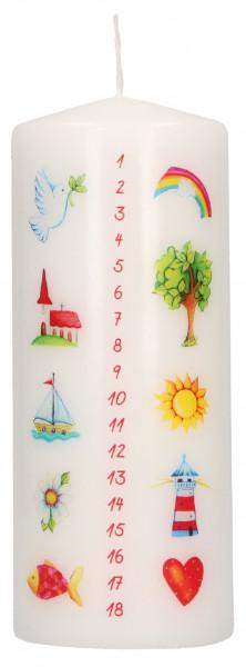 Stumpenkerze Motiv - Deine Kerze zum Geburtstag