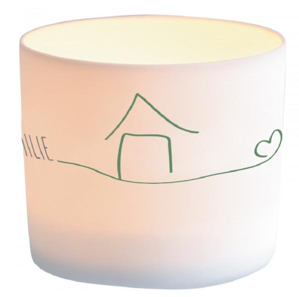 Windlicht Porzellan - Zuhause