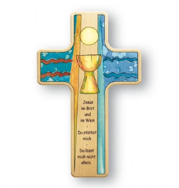 Kinderholzkreuz - Kreuz mit Motiv Abendmahl