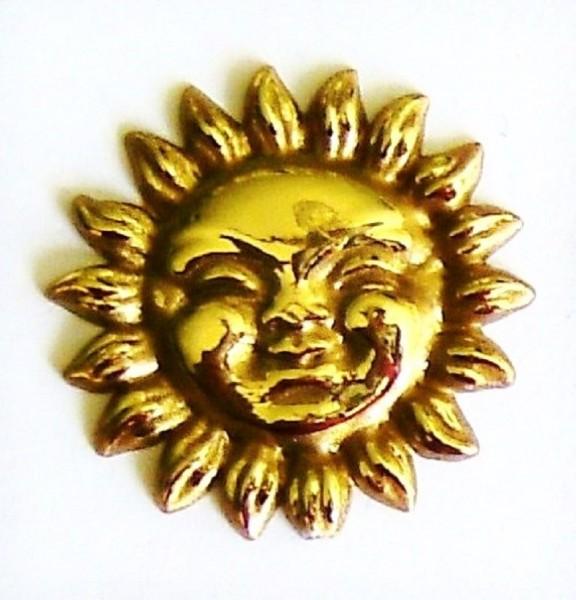 Miniatur Sonne 33mm, Streuartikel zum basteln Plastik